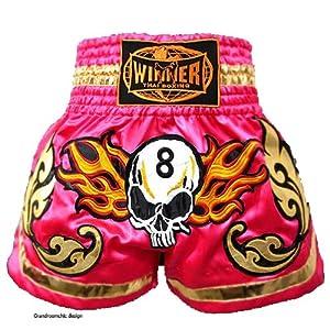Amazon.com : New Winner Retro Muay Thai Shorts Kick Boxing K1 MMA Pink
