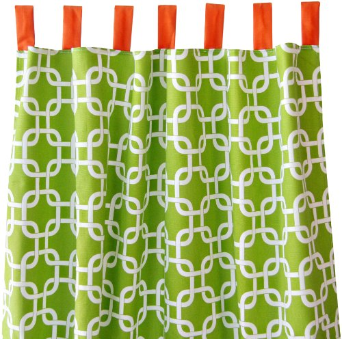 Caden Lane Curtain Panels, Green Bright Baby
