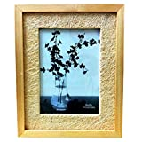 Beautiful And Stylish Wooden Table-Top Photo Frame - Light Wood Color And Thick Border (5 X 7 Inch Photo)