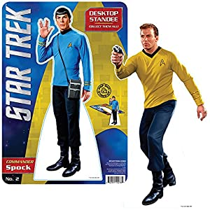Star Trek Captain Kirk And Spock Stand Up Set - Easel Back 60s TV Show