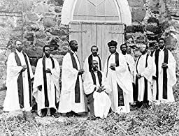 1895 Old Photograph of American Blacks In Liberia African Clergy