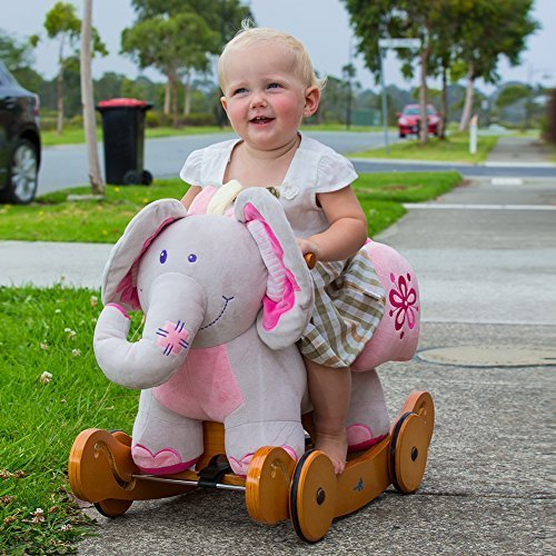 Labebe-Christmas-Gift-for-Baby-Rocking-Horse-Plush-Animals-Elephant-Pink