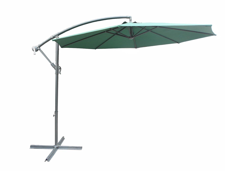 Dajar Schirme Seitensonnenschirm 3 m, Gestell, anthrazit / grün online bestellen