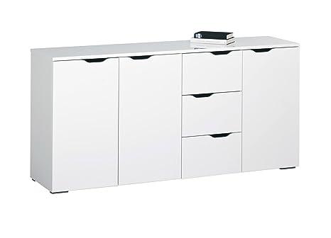 MAJA-Möbel 7278 5639 Kommode, weiß Hochglanz - Icy-weiß, Abmessungen BxHxT: 160,1 x 77,7 x 40 cm