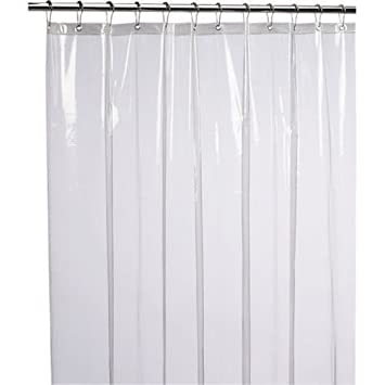 Kuber IndustriesTM 0.30mm PVC AC Transparent Curtain (Width 54 Inches X  Height