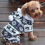 Willtoo(TM) Christmas Gift Puppy Pet Dog Winter Hoodie Warm Coat Soft Plush Jasmine Dress (XL)