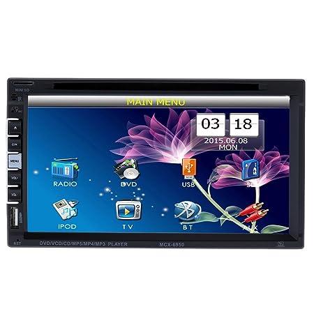 KKmoon 7inch 2 Din autoradios universel DVD/USB/SD lecteur HD multimédia Bluetooth Radio pour les voitures