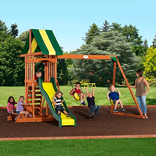 backyard discovery prestige all cedar wood playset swing set toys