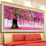Tourwin Kit de point de croix Motif à broder cerisier Sakura 54x 118cm Arts de décoration intérieure, loisirs et couture...