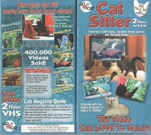 Cat Sitter - 2 Hour VHS - The Video Cats LOVE To Watch