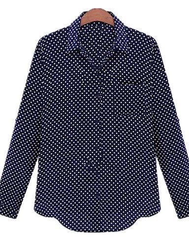 ZXR-Fashion-Plus-Tailles-Femme-Wave-point-dimpression--manches-longues-Dcontract-pour-femme