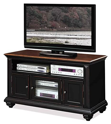 3-Door TV Cabinet in Prestige Black Finish