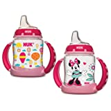 NUK 5 Ounce Learner Cup, 2 Count, Minnie Mouse/Balloons (Color: Girl, Tamaño: 2 Count)