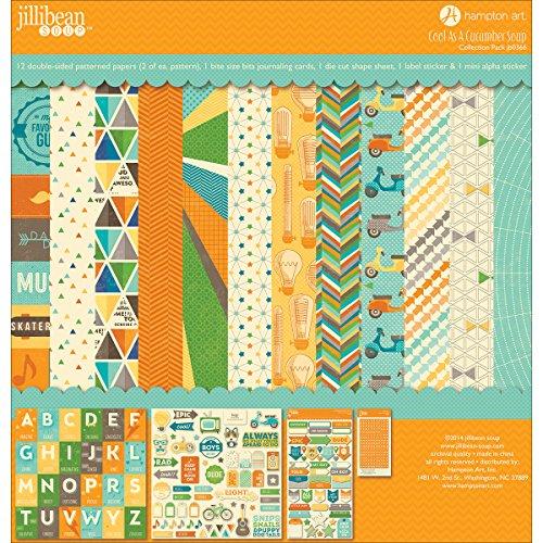 Hampton Art Papier Jillibean Collection Kit de 30,5cm x 30,5cm, Cool comme un concombre soupe