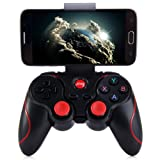 Game Controller Joystick Terios T3 Wireless Bluetooth Gamepad for Android Smartphone Tablet PC Remote Controller (Color: black)