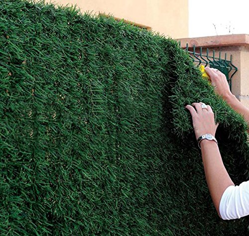 Siepe artificiale doghe pannelli per recinzione esterno catena Faux siepe Privacy per recinzioni, 1m x 2m, 1m x 3m
