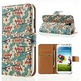 delightable24 Schutzhülle Case Bookstyle SAMSUNG GALAXY S4 Smartphone - Vivid Flowers Edition