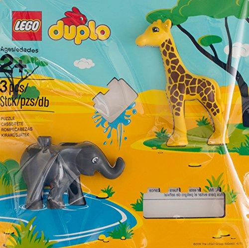 Lego Duplo Wildlife Tier Puzzle 5004401 Polybag Neu mit Giraffe und Elefant