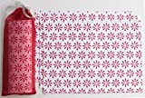 Blue Alcove Geo Snowflake 4 Piece Place Mat in a Gift Bag -  Red