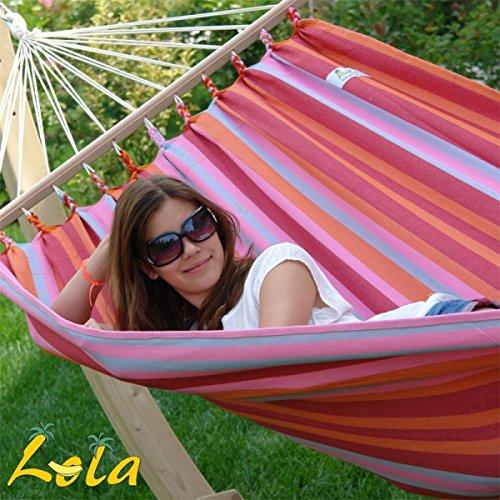 Lola Aruba cocktail Stabhängematten