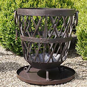 Feuerkorb feuerschale schmiedeeisen metall landhaus for Gartendeko schmiedeeisen