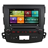 Maxtrons 8 Inch Car DVD GPS Navigation Player Stereo Radio Autoradio headunit In Dash Radio For Mitsubishi Outlander 2005-2011 Free Camera