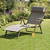 Transcontinental Group Havana Mocha Steel Sunlounger