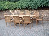 MONTE CARLO BY Humber Imports 17 PIECE GRADE A TEAK DINING SET NEW 2014 MODEL