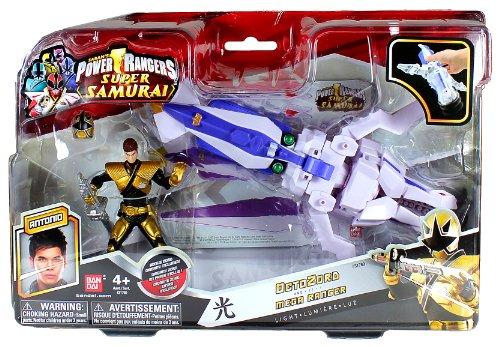 Bandai Year 2012 Power Rangers Samurai Series Action Figure Zord Vehicle Set - OCTO ZORD with 4 Inch Tall Light Gold Octopus Mega Ranger