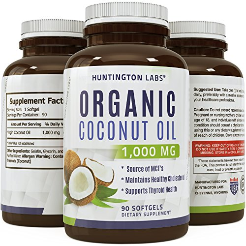 100% Pure Virgin Coconut Oil For Women & Men (Best Formula On The Market) - Natural Potency With 1000 Mg Per Day, Highest Grade & Quality Capsules