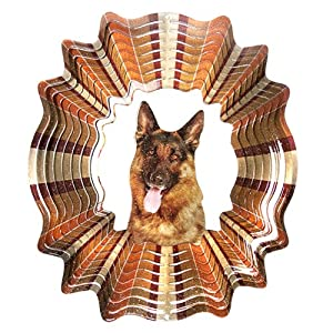 Iron Stop D405-6 German Shepherd Wind Spinner, 6.5-Inch