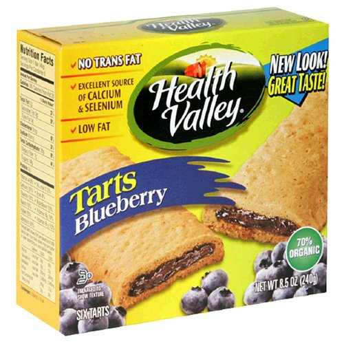 Health Valley Low-Fat Tart, Blueberry, 6-Count 8.5-Ounce Boxes (Pack of 6)