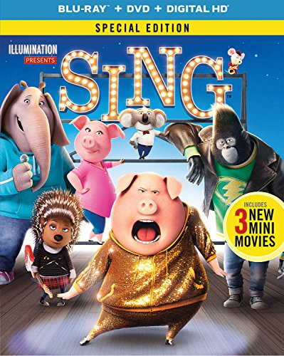 Blu-ray : Sing (With DVD, Special Edition, Digitally Mastered in HD, Snap Case, Slipsleeve Packaging)