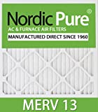 Nordic Pure 16x30x1M13-6 16x30x1 MERV 13 Pleated AC Furnace Air Filter, Box of 6, 1-Inch