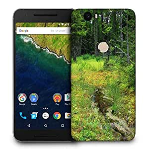 Snoogg Small Pond In Tree Printed Protective Phone Back Case Cover For LG Google Nexus 6P