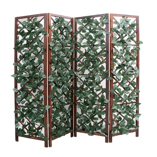Pannello grigliato separe divisorio paravento in legno - Separe da esterno ...