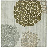 Safavieh Soho Collection SOH211A Handmade Grey New Zealand Wool Square Area Rug, 6-Feet Square