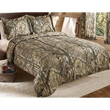 Realtree Xtra Mini Comforter Set, Queen, Tan, Camo