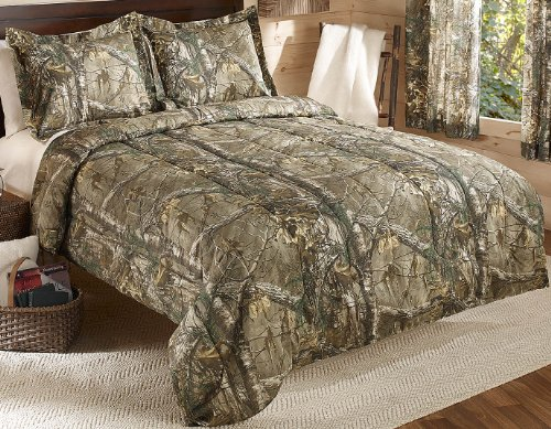 Big Save! Real Tree Xtra Mini Comforter Set, Queen, Tan, Camo