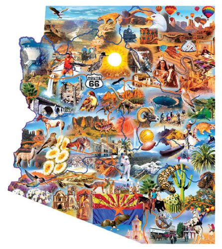 Cheap SunsOut Arizona Shaped Jigsaw Puzzle (B000EBINIG)