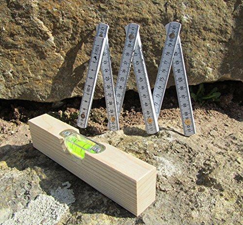 Kinder-Wasserwaage-Meterstab-Werkzeug-2er-Set-Top-Qualitt