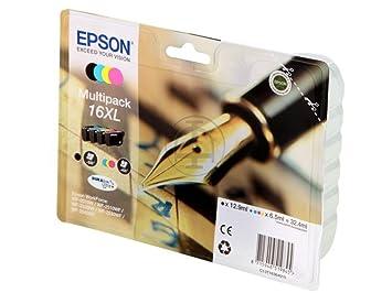 epson multipack 16xl 16xl lot de cartouches d 39 encre pour workforce workforce. Black Bedroom Furniture Sets. Home Design Ideas