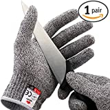 NoCry Cut Resistant Gloves - High Performance Level 5 Protection, Food Grade. Size Small. Free Ebook Included!
