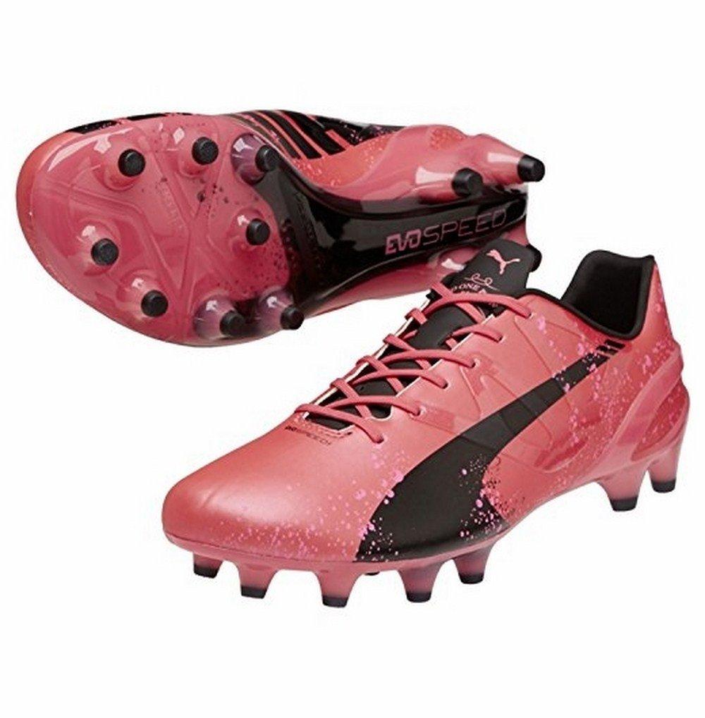 PUMA Men's evoSPEED 1.3 Pink FG Soccer Cleat' puma puma evospeed 5 4 it