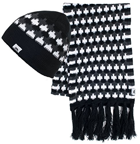 Trespass Women's Bunty Hat and Scarf Set - Black