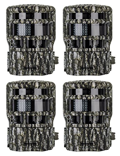 4 Moultrie Game Spy Low Glow Panoramic 150° Infrared Digital Trail Cameras - 8Mp
