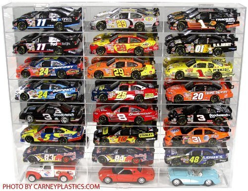 NASCAR Diecast Model Car Display Case 1/24 Scale 24 Compartments (Die Cast Display Case 1 64 compare prices)