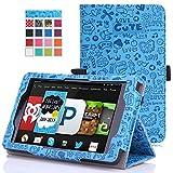 MoKo Amazon Kindle Fire HD 6 2014 Case - Slim Folding Cover Case for Amazon Kindle Fire HD 6 Inch 2014 Tablet, Cutie Charm BLUE