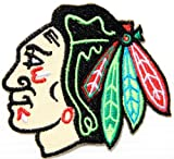 Chicago Blackhawks NFL Logo Football Jacket T-shirt Patch Sew Iron on Embroidered Badge Sign at Amazon.com