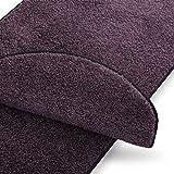 Teppich Läufer uni lila   Qualitätsprodukt aus Deutschland   kombinierbar mit Stufenmatten   17 Breiten und 18 Längen (110 x 200cm)